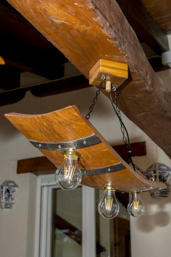 Lámparas de madera