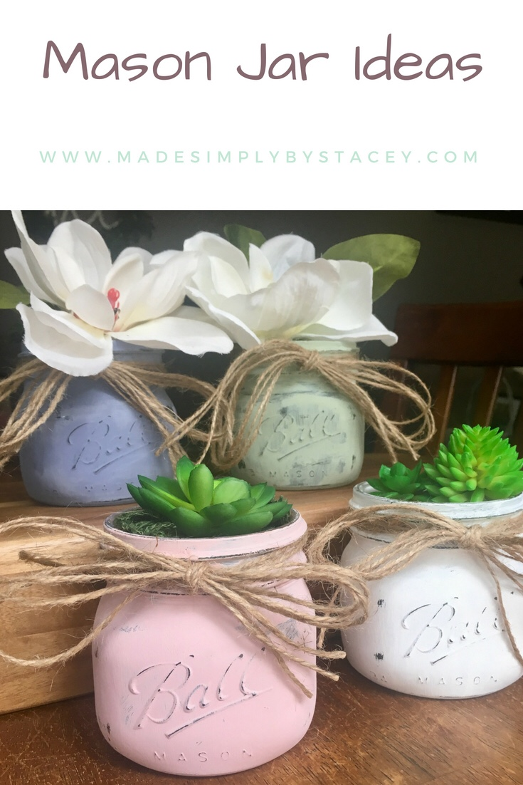Mason Jar Ideas; Succulent Plant Holder