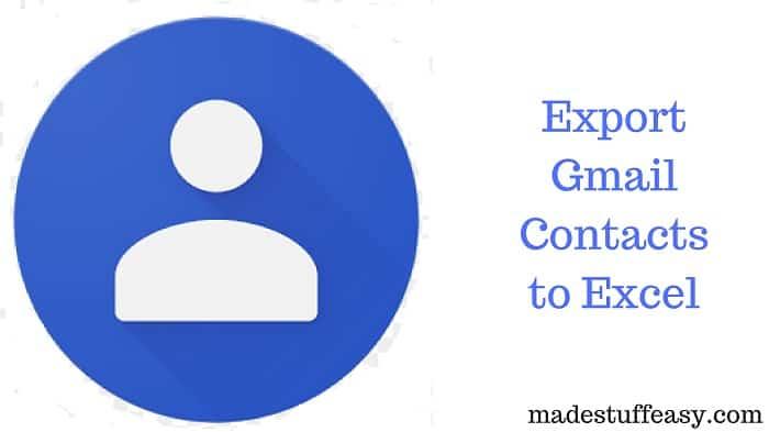 gmail contact export