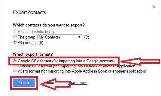 google csv