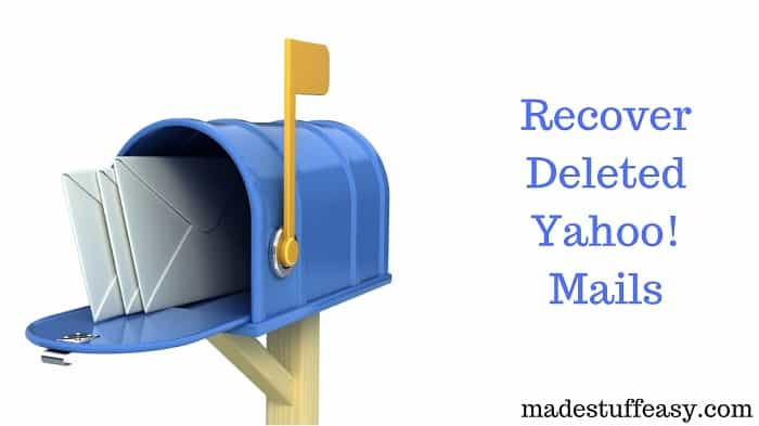 retrieve deleted Yahoo emails