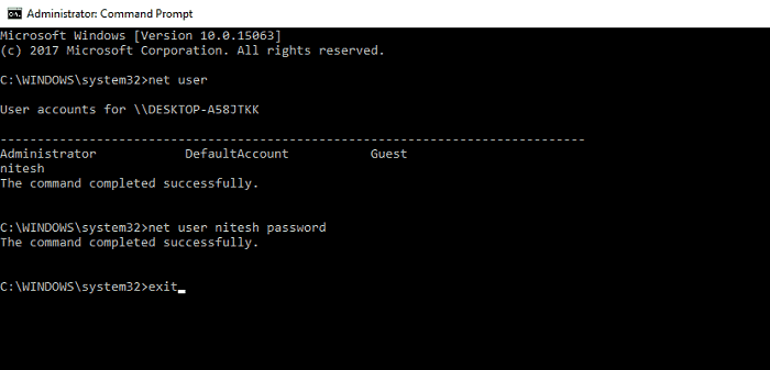 net user cmd