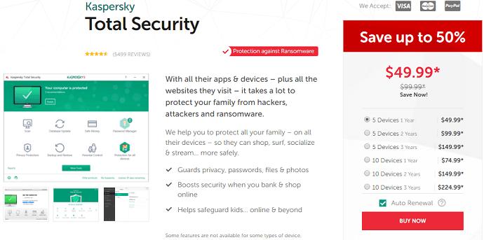 kapersky total security