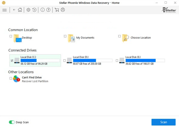 recovery disk location