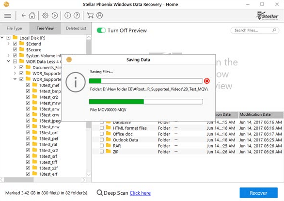 save recovery file