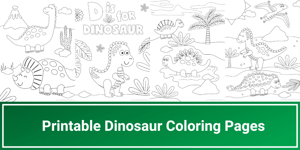 Printable Dinosaur Coloring Pages Made To Be A Momma