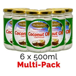 6-Pack - MaDevlins Organic Virgin Coconut Oil 500ml