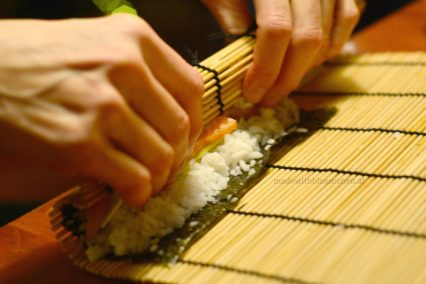 2016-12-31 Muenchen - Sushi - rollen 2