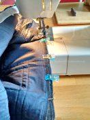 Für das finale Zusammennähen habe ich eine Jeansnadel verwendet.