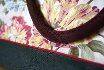 Detail Lederhenkel und Paspel