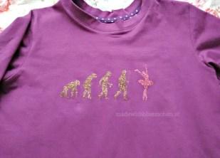 Evolution of Ballett in Extrem-Glitzer Bronze und Pink.