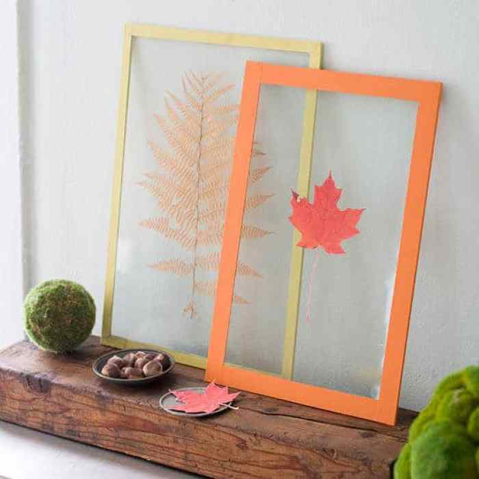 Pressed Leaf - Better Homes and Gardens | 15 DIY Fall Crafts | www.madewithHAPPY.com