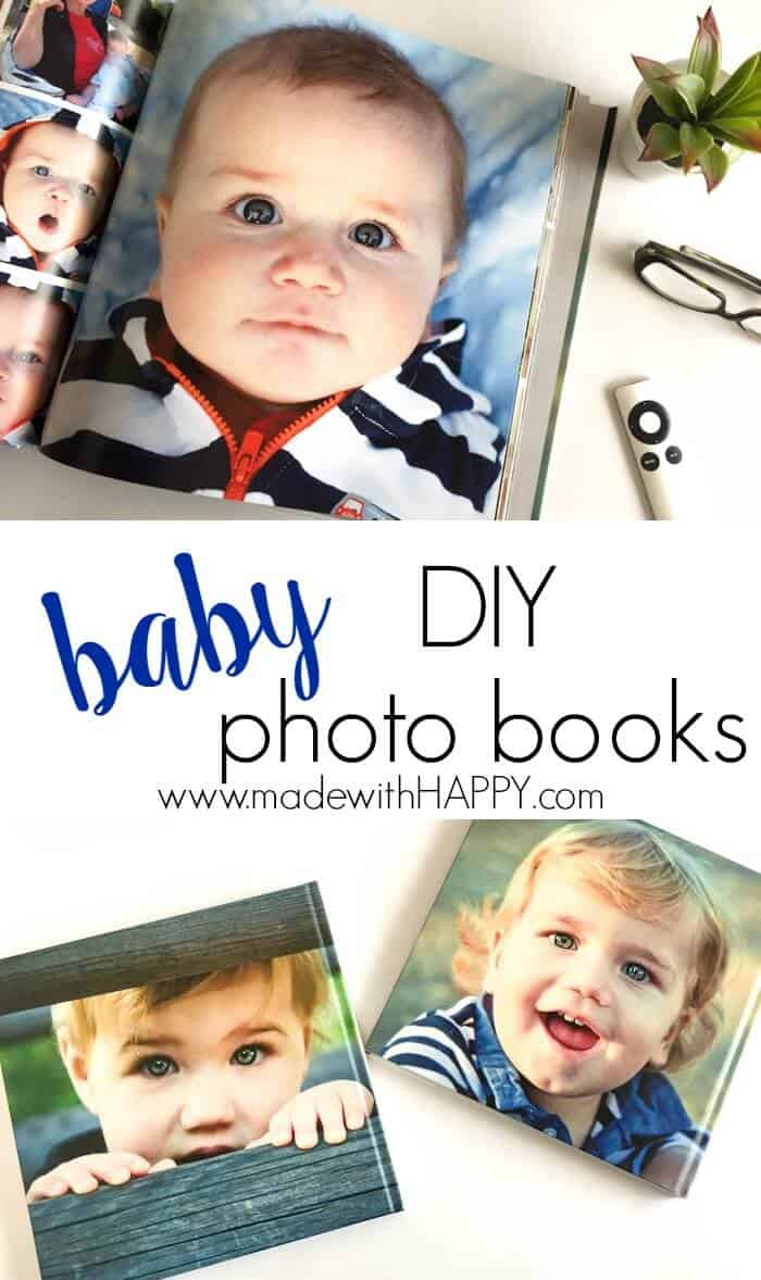 DIY Baby Photo Books | How to make hardcover coffee table books | Baby Memory Books | Baby's 1st Year book | www.madewithhappy.com