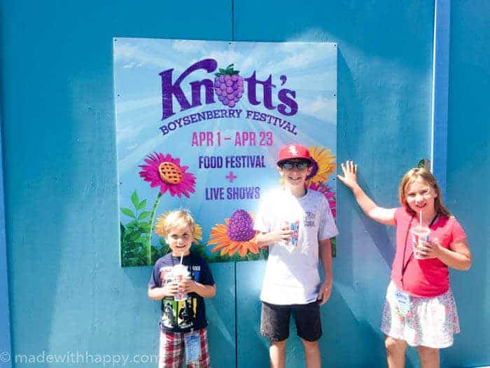 The Boysenberry Festival at Knott's Berry Farm | Things to do at Knott's Berry Farm | How does Knott's Berry Farm compare to Disneyland | Little kids at Knott's Berry Farm | www.madewithhappy.com