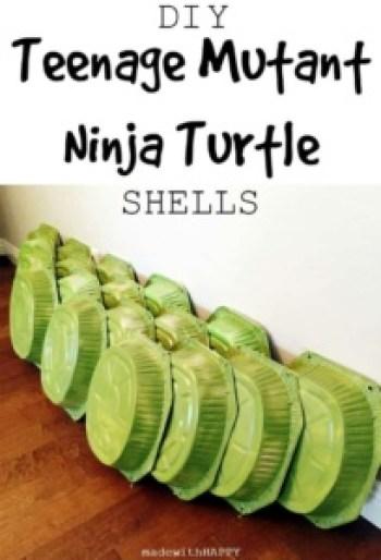 DIY Teenage Mutant Ninja Turtle Shells   TMNT Birthday Party Decorations   DIY TMNT Costume   www.madewithHAPPY.com