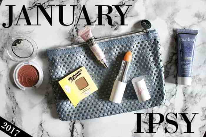 January IPSY Glam Bag 2017