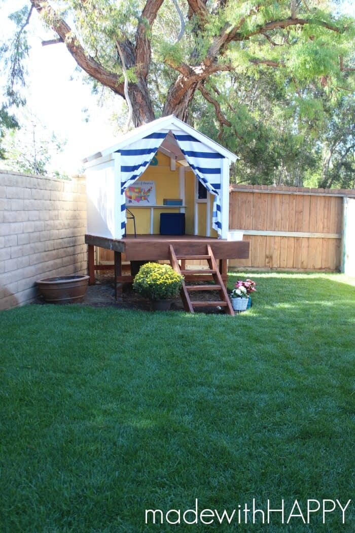 Marvelous Outdoor Treehouse Part - 3: MadewithHAPPY.com Treehouse | Playhouse | Kids Outdoor Play Area | Www.