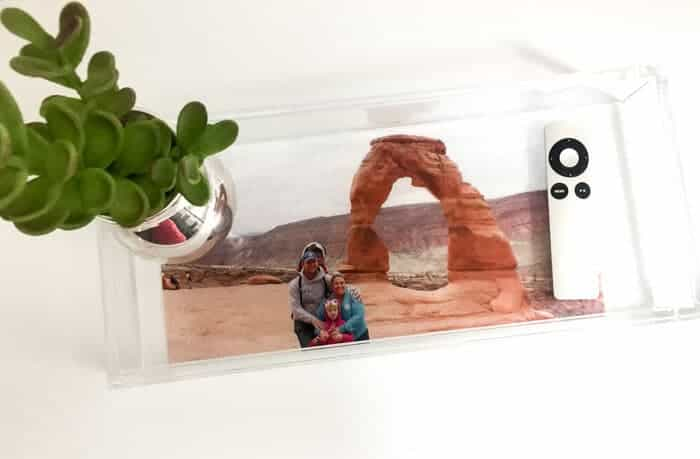 Modern DIY Photo Tray