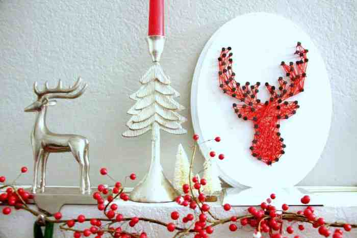 Reindeer String Art DIY | Christmas Decor DIY | String Art Reindeer Head | www.madewithHAPPY.com and MyPrintly