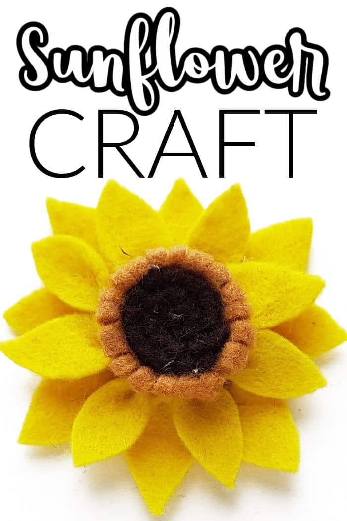 Sunflowers commonly bloom during summer and a portion of fall with the middle of summer being t. Sunflower Craft Felt Crafts For Kids Made With Happy