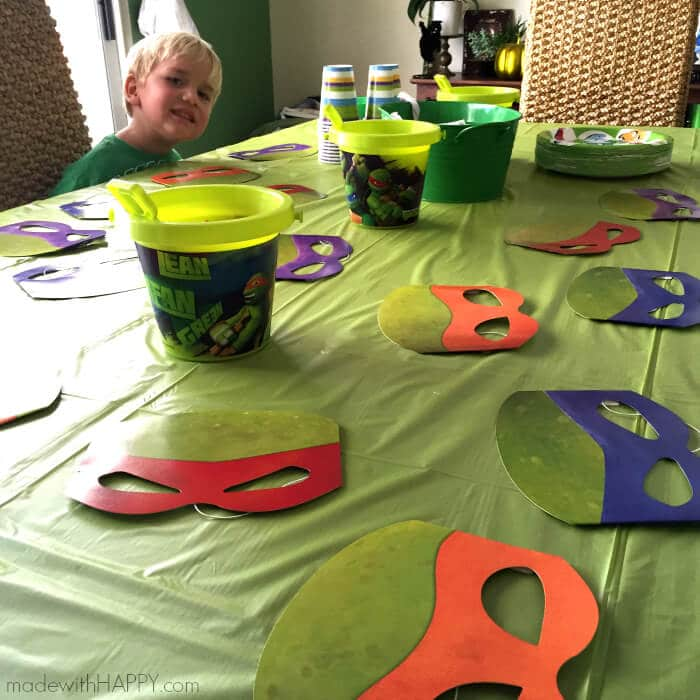 Teenage Mutant Ninja Turtle Party | TMNT Party Ideas | Boy Turtle Party | Ninja Party Ideas | www.madewithhappy.com
