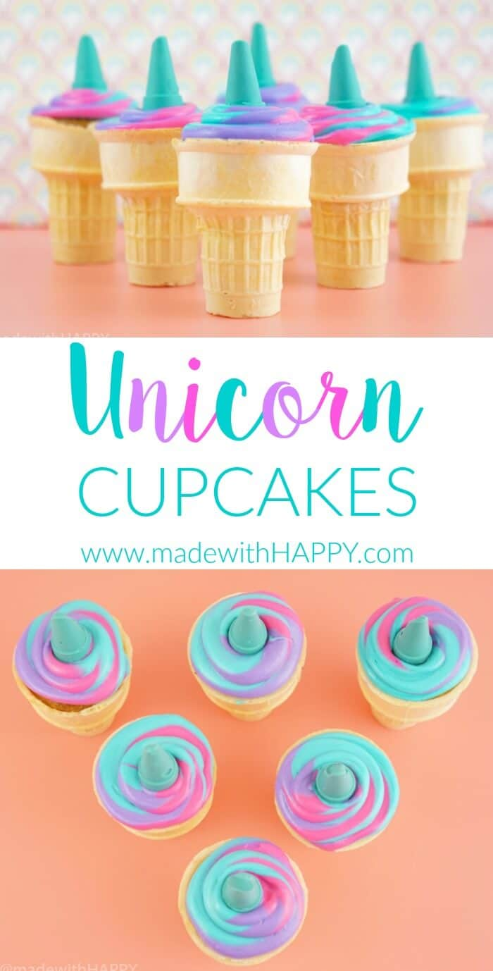 Unicorn Cupcakes Made With Happy