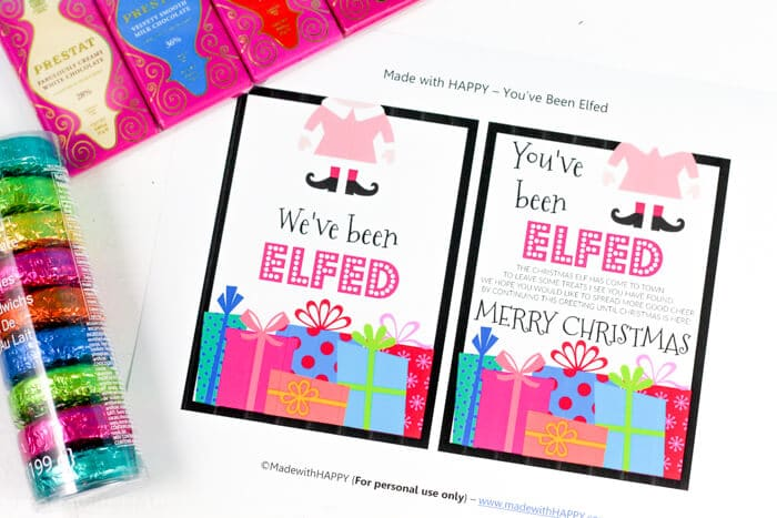 You've been elfed free printable