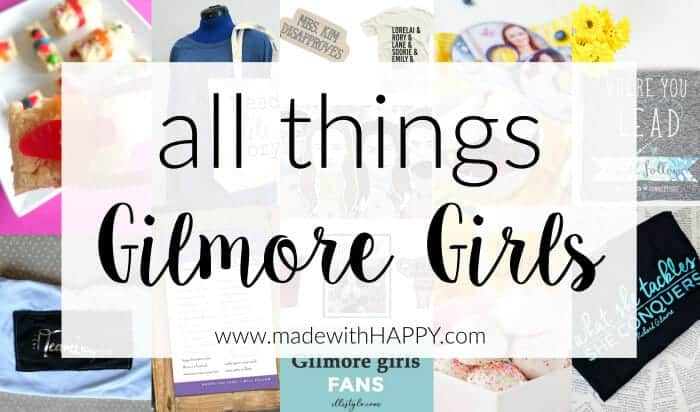 Gilmore Girls Miss Patty's Founders Day Punch | Gilmore Girls Dessert Sushi | Gilmore Girls Party | Read like Rory Shirts | Pop Tart Recipes | Sookie's Blueberry Shortcake | Gilmore Girls Drinking Game | Candy Sushi | Rice crispy treat dessert ideas | www.madewithhappy.com