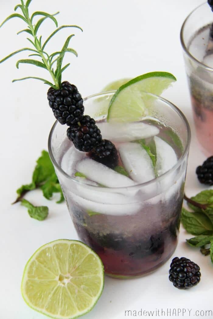 Blackberry Mojito anyone? :) Recipe from Made With Happy