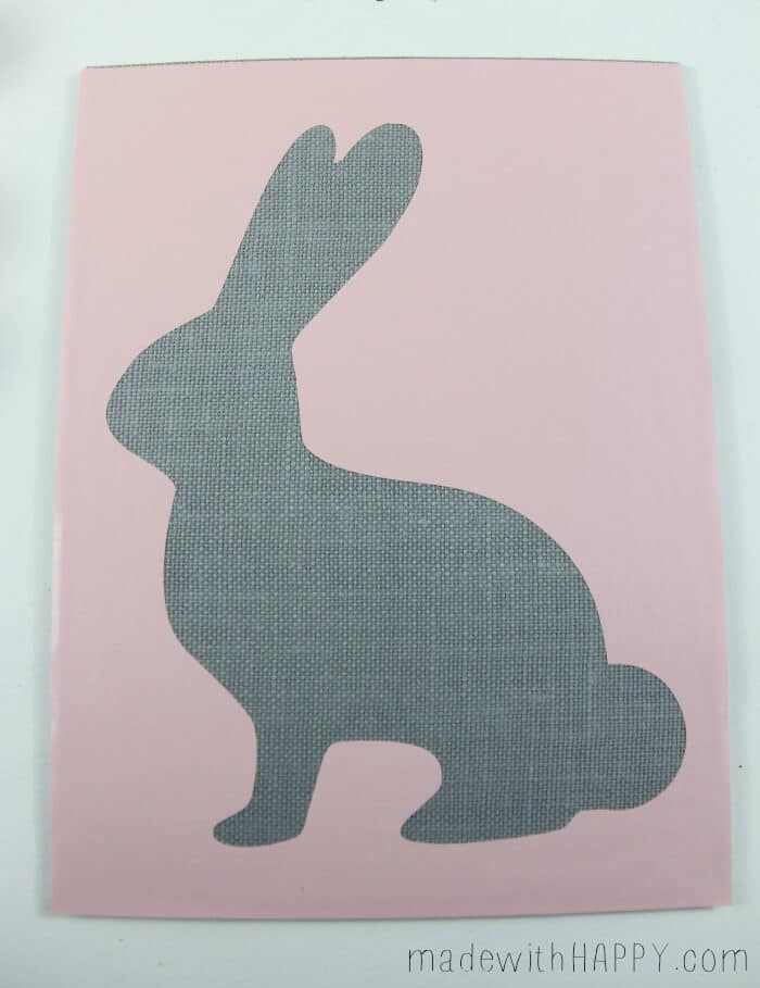 Ombre Burlap Bunny | Easter Bunny Decorations | Pink Bunny Stencil | DIY Easter Decor | www.madewithHAPPY.com