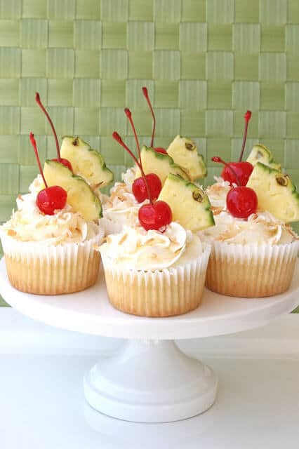 Pina Colada Cupcakes | 10 Must Have Cupcakes Recipes for Summer | Summer Cupcakes