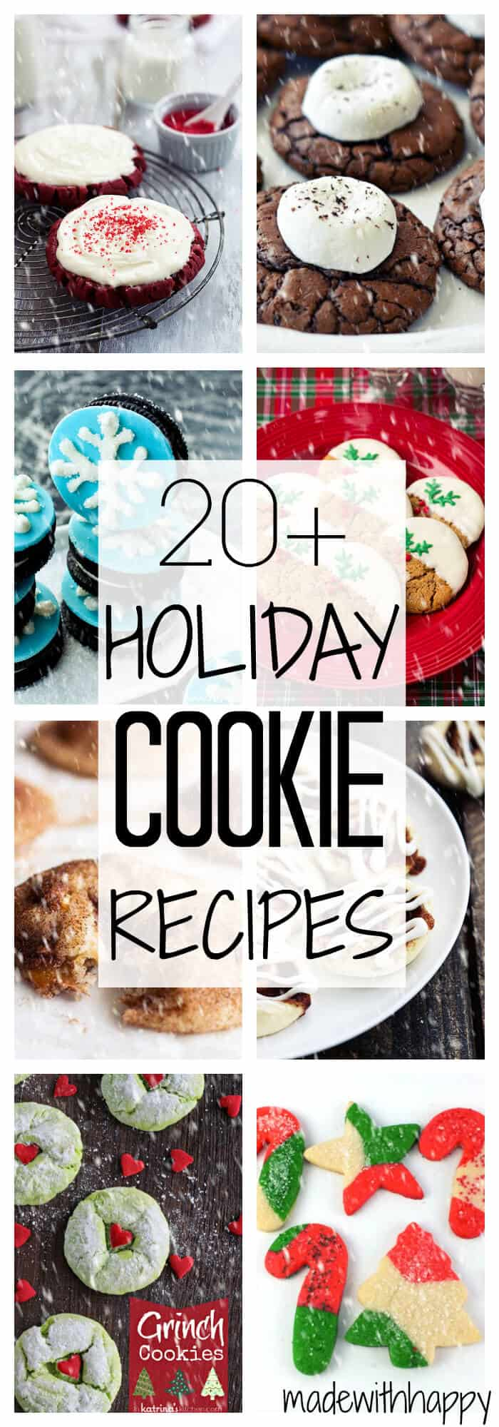 20+ Holiday Cookies | Christmas Cookie Recipes | www.madewithHAPPY.com