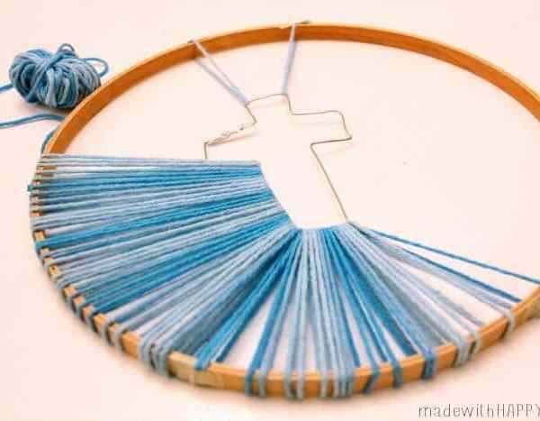 Hoop String Easter Cross