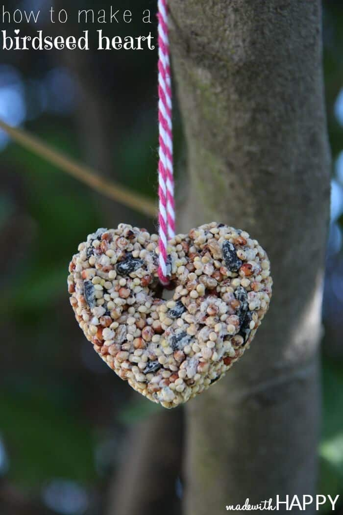 How to make a birdseed heart and free printable valentine. Perfect non-candy valentine that the kids will love to make!