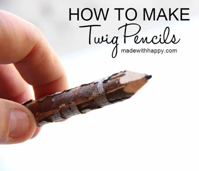 How to make twig pencils   Making pencils out of branches and twigs   DIY Pencils   www.madewithhAPPY.com