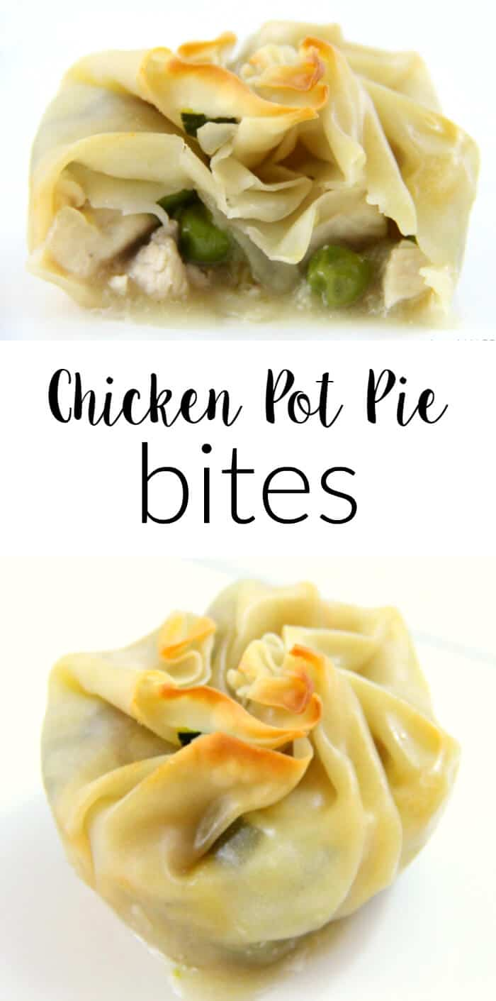 Chicken Pot Pie Bites | Reduced Fat Chicken Pot Pies | Wonton Chicken Pot Pies | Healthier Version of Chicken Pot Pies | Simply Raised Chicken | Kid Friendly Chicken Pot Pies | www.madewithhappy.com