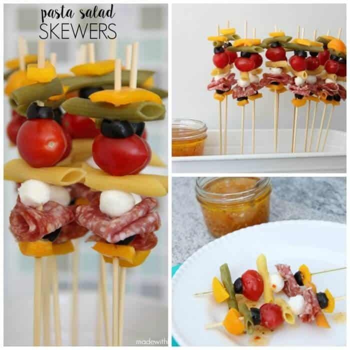 Pasta Salad Skewers - Your new healthy go-to recipe for all your Summer BBQ's