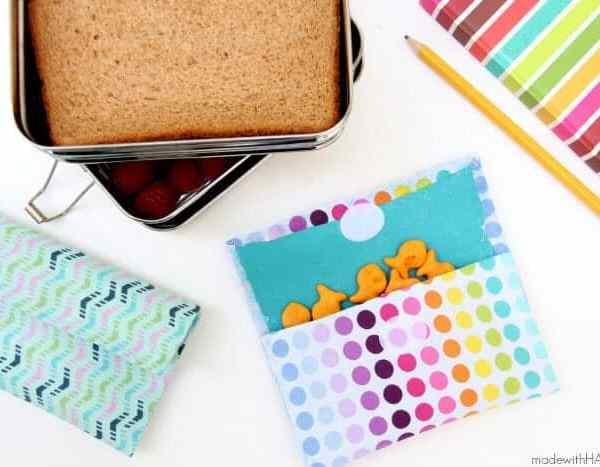 No Sew Reusable Snack Bags