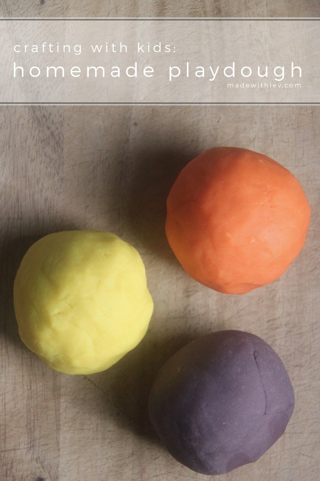 Crafting with kids: homemade playdough. So good, you'll never go back to the store bough variety. #craftingwithkids #kidscraft #homemadeplaydough #playdough #diycraft #familycraft #toddleractivities