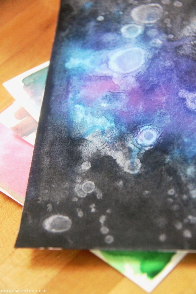Watercolor + Rubbing Alcohol via Made With Lev