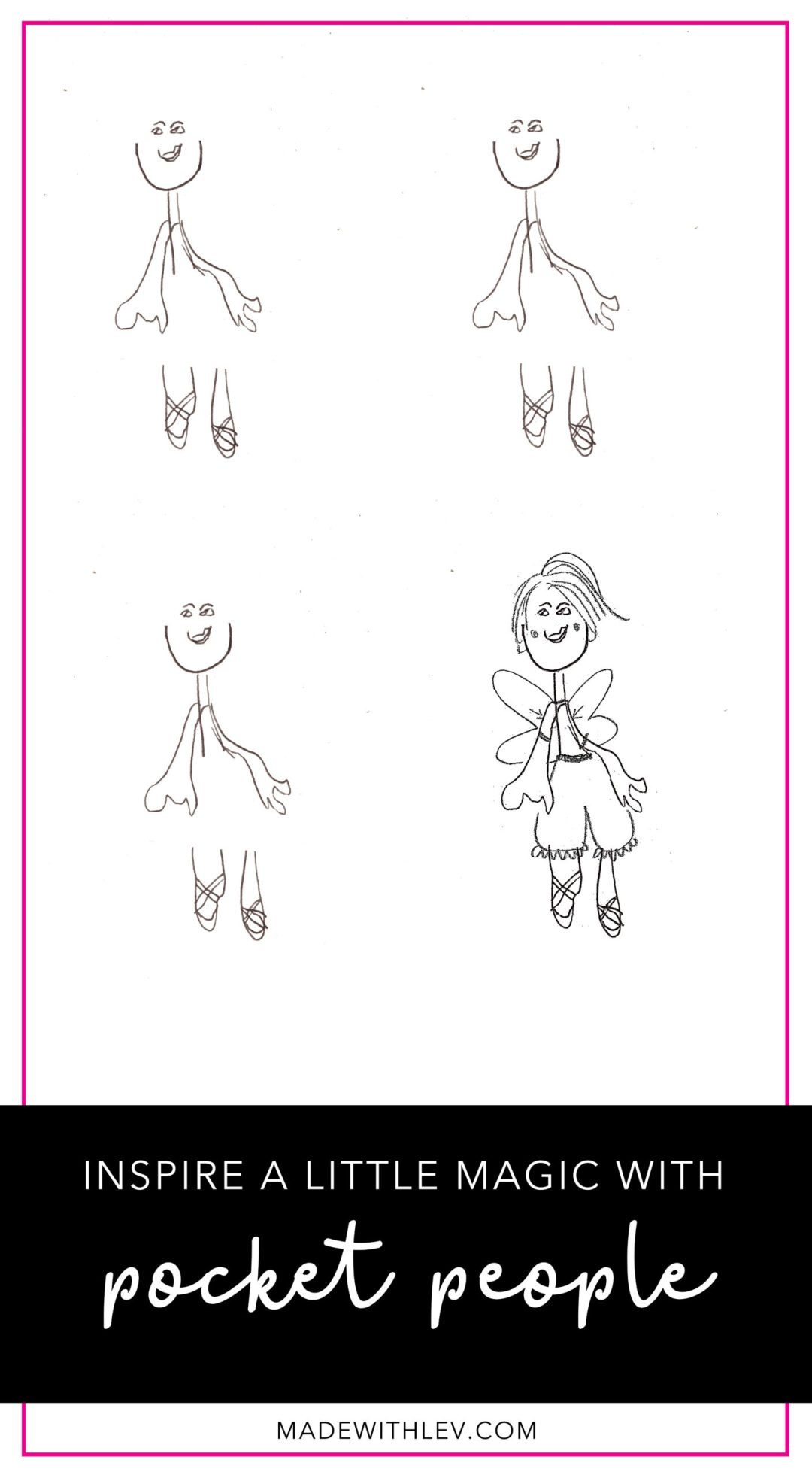 Inspire a little magic with these pocket people (or fairies). Download your free template now. | madewithlev.com