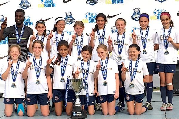 Mad Fitness Congratulates Santa Barbara Soccer Club Girls Team