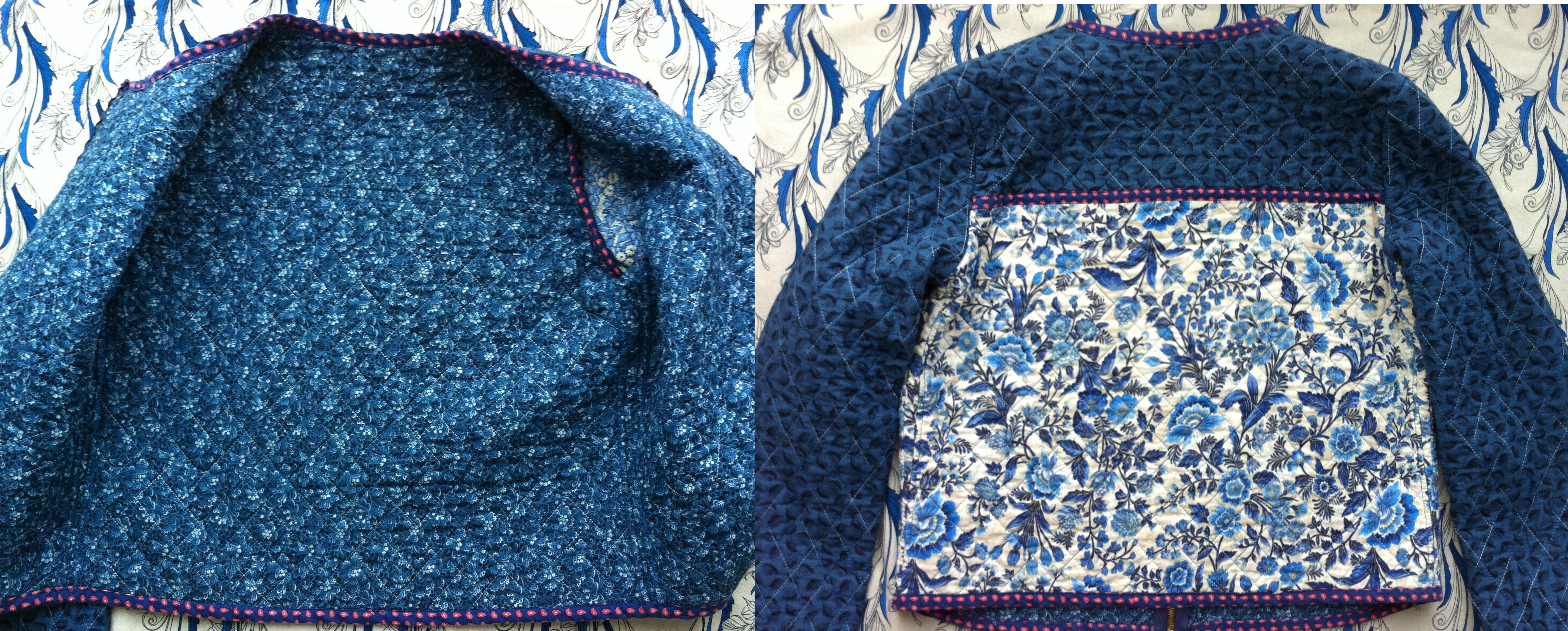 DIY Quilted Jacket | Mad For Fabric : quilted pictures - Adamdwight.com