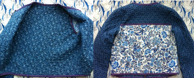 Mad For Fabric DIY Quilted Jacket Interior and Back Views