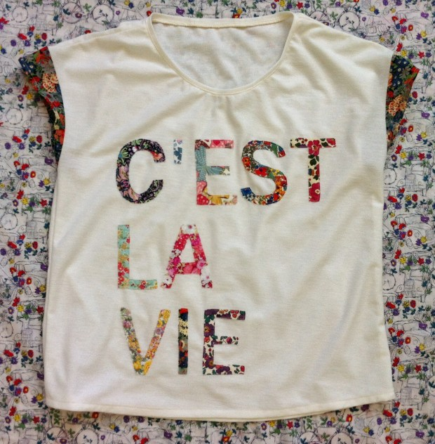 DIY J.Crew C'est La Vie Tee by Mad For Fabric