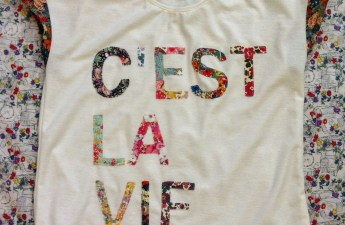 DIY J.Crew C'est La Vie Tee by Mad For Fabric