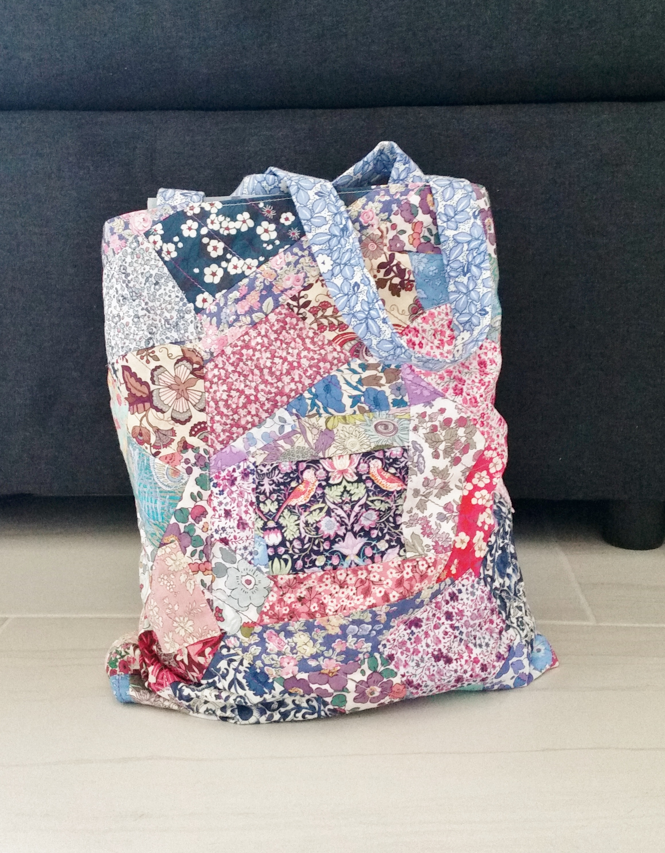 Diy Liberty London Patchwork Tote Bag