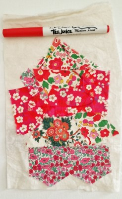 Liberty Scrap On Muslin For Tree Applique