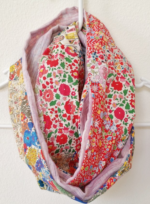 Mad For Fabric - DIY Liberty Patchwork Infinity Scarf