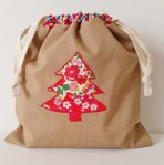 Mad For Fabric - Liberty Applique Drawstring Bag